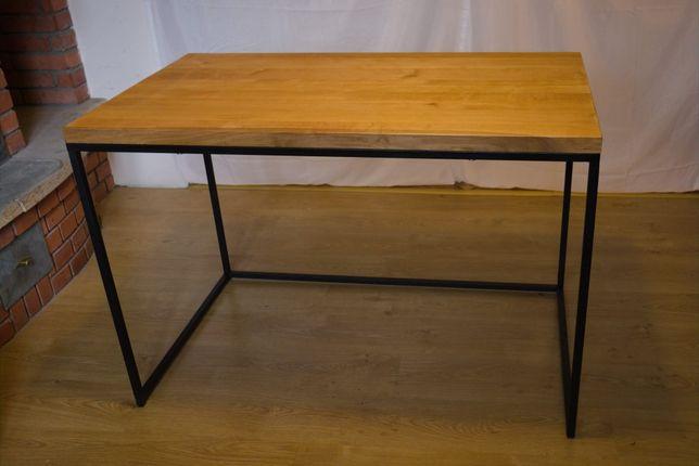 Biurko/stół loft. Blat lite drewno olcha grubości 4cm. 120x70