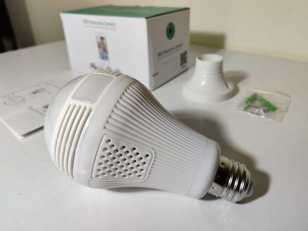 [NOVO] Câmera de Vídeo Vigilância WiFi Lâmpada 360º • 1080P • App