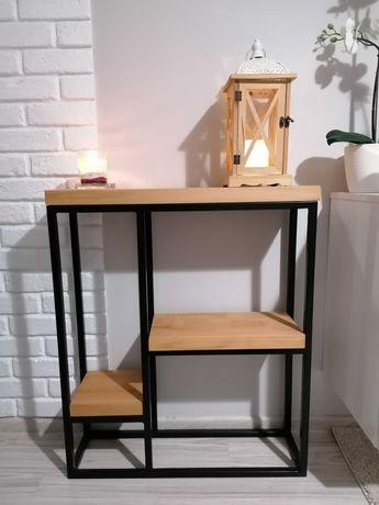 Konsola stolik loft komoda drewno metal