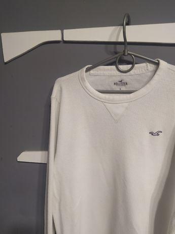 Мужской белый фирменный свитер Hollister