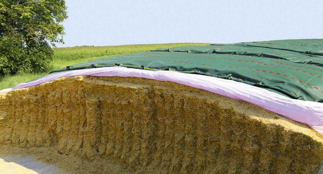 Siatka ochronna rolnicza na pryzmy silos kiszonka z kukurydzy