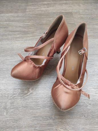 Туфли Eckse бальные для танцев стандарт 25 см