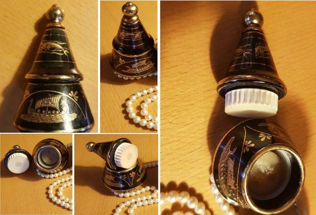 BARDACO poison Perfumy unikat vintage porcelana grecka amfora złoceni