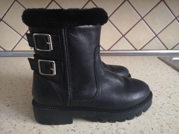 Sprzedam buty skórzane zimowe z Zary roz.35