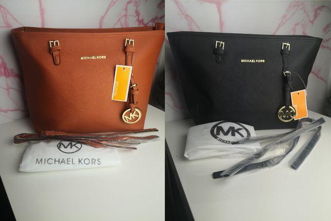 Torba Michael Kors Mk prosta brązowa i czarna nowość premium