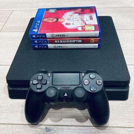 PlayStation 4 SLIM 1 TB+ 2 GRY
