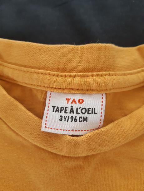 T-shirt musztardowy Tape a l'oeil3 lata 96 cm