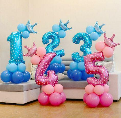 Надувні кульки цифри на подарунок на день народження, шаріки