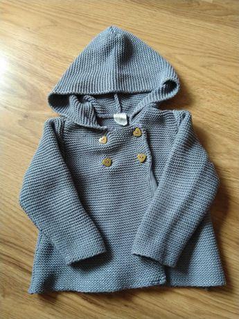 Sweterek dziewczęcy, h&m, rozm 86, 12-18 miesięcy
