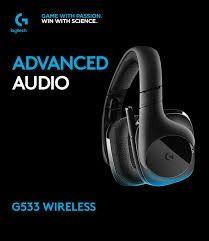Bezprzewodowe słuchawki gamingowe Logitech G533 DTS X 7.1