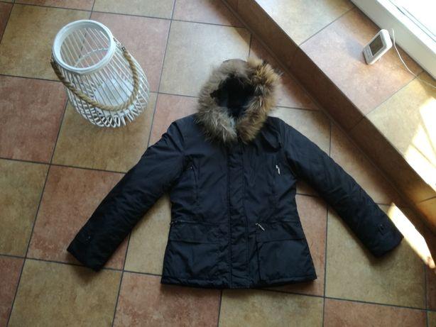 Damska czarna kurtka jesienna rozmiar S