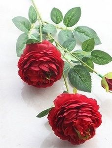 Sztuczne długie czerwone róże
