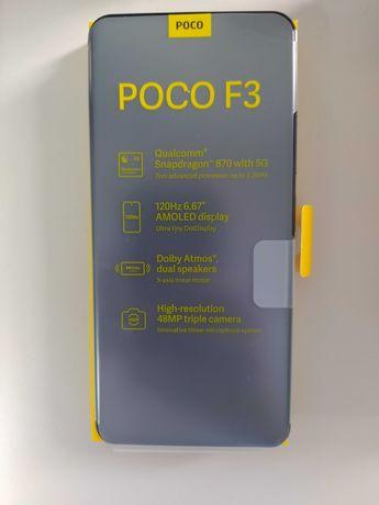 Xiaomi Poco F3 8GB/256GB - Preto c/  Capa extra e vidro temperado