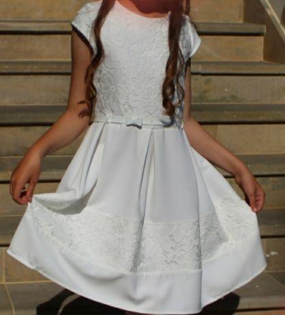 Sukienka ecru rozm.152 z bolerkiem przebranie po komunii OKAZJA