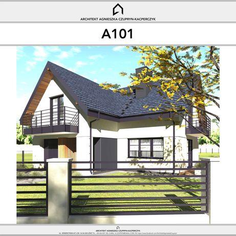 OKAZJA -1000zł Typowy, gotowy projekt domu z poddaszem+garaż 155/178m2