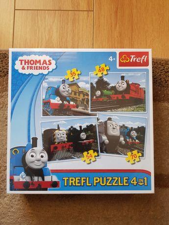 Tomek i przyjaciele. Puzzle 4 w 1 , plus GRATIS