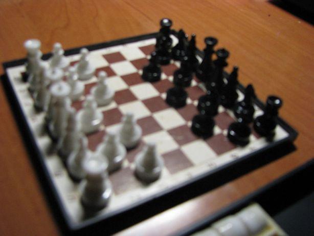Gra szachy/warcaby mini, królewska gra w podróży