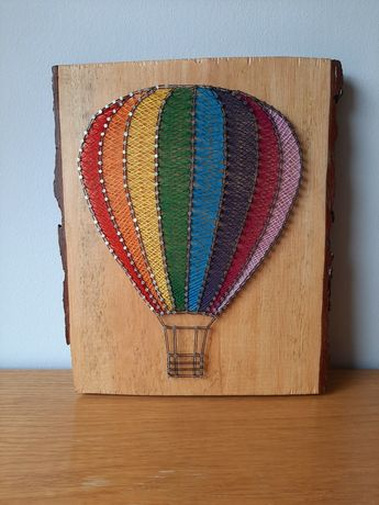 Balon - obraz string art
