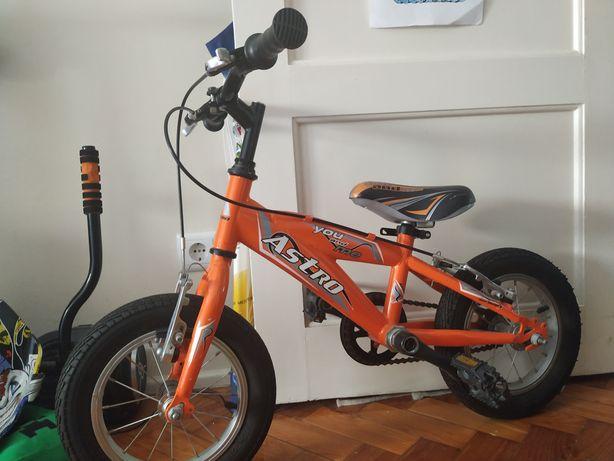 "Bicicleta Astro laranja 12"""