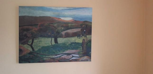 "Reprodukcja obrazu - Gauguin ""Pejzaż z Bretanii"""