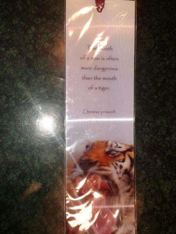 Zakładka do książki Bookmarks 3D tygrys nowa