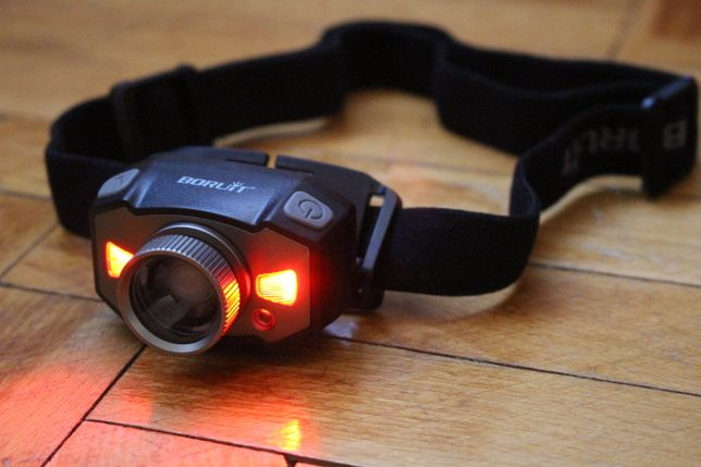Налобний ліхтарик, туристичний фонарь boruit B33 на голову 210 люмен