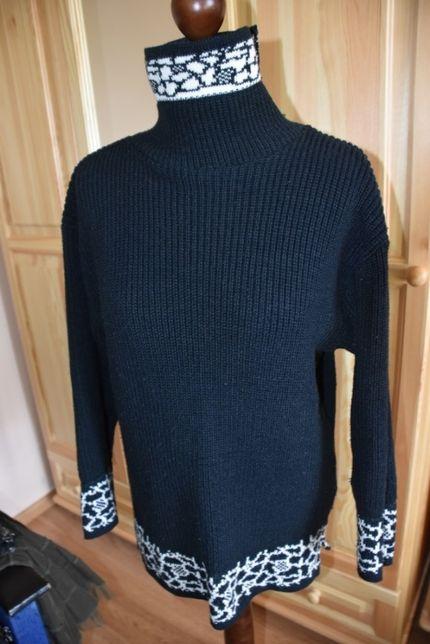 akrylowy sweter-golf L