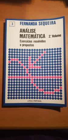Livros de análise matemática, exercícios propostos e resolvidos