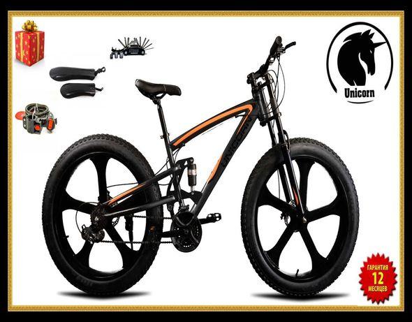 Горный велосипед Unicorn Fet-Bike Колёса Литые 26х4.Размер рамы 17
