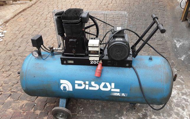 compressor 200 litros motor trifásico