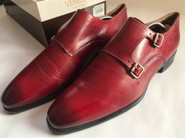VENEZIA włoskie buty mokasyny męskie MADE IN ITALY - SA1732 bre ro