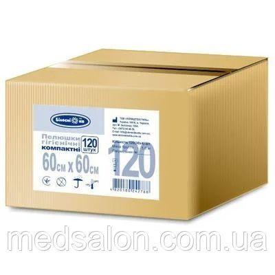 Пеленки одноразовые 120 шт гигиенические 60х60 см для инвалидов