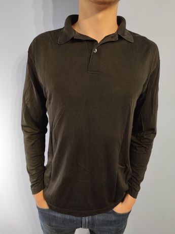 Bluzka ATWARDSON czarna męska bluza z długim rękawem polo M