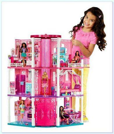 Дом мечты 3-х этажный с лифтом Barbie Mattel, машина в подарок