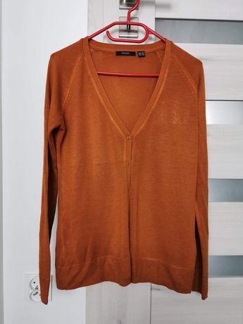 Sweterek rozpinany rudy