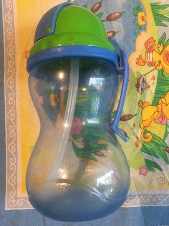Бутылочка Canpol поильник непроливайка с трубочкой