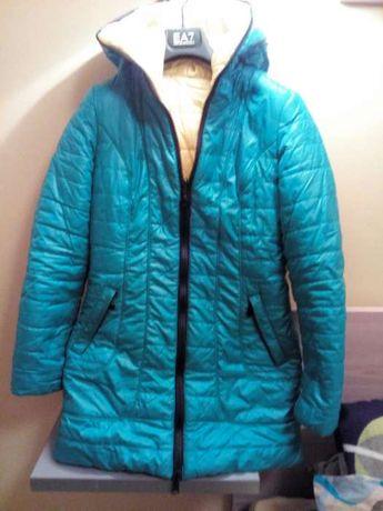 Куртка теплая 44 размер двусторонняя