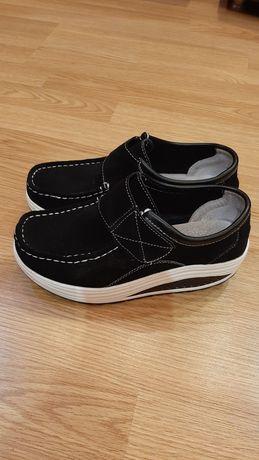 Туфли замша натуралка