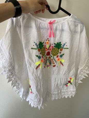 Bluzeczka z haftem dla dziewczynki 6 lat