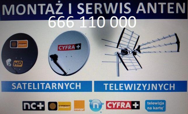 Ustawianie anteny, montaż ustawienie serwis anten satelitarnych dvb-t