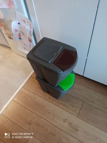 Kosz na śmieci podwójny