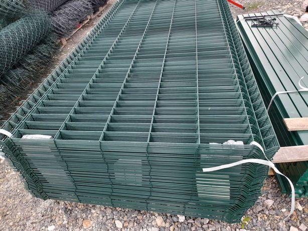 Panele ogrodzeniowe.Wys.123 cm.Drut 4mm.
