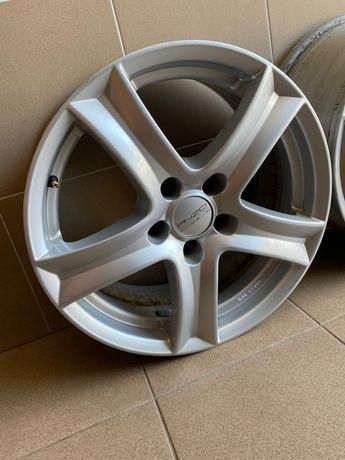 "Felgi 5x112 17"" Anzo Srebrne Audi Volkswagen Mercedes"