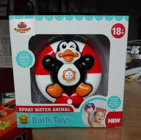 Zabawka do kapieli prysznic fontanna pingwinek