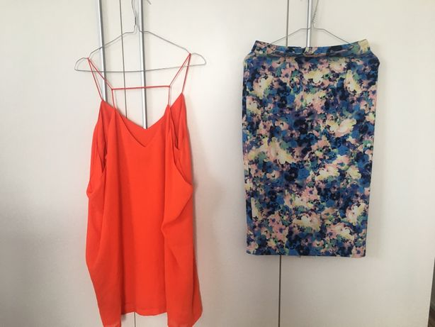Sukienka na ramiączkach i spódnica ołówkowa + gratisy