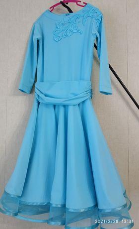 Платье для бальных танцев , детское. Basic голубое