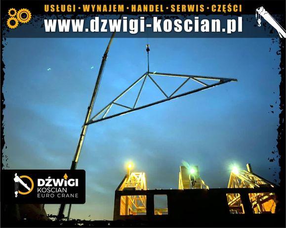 Wypożyczalnia żurawi Dźwig dekarski żuraw ciesielski Bocker,Klaas