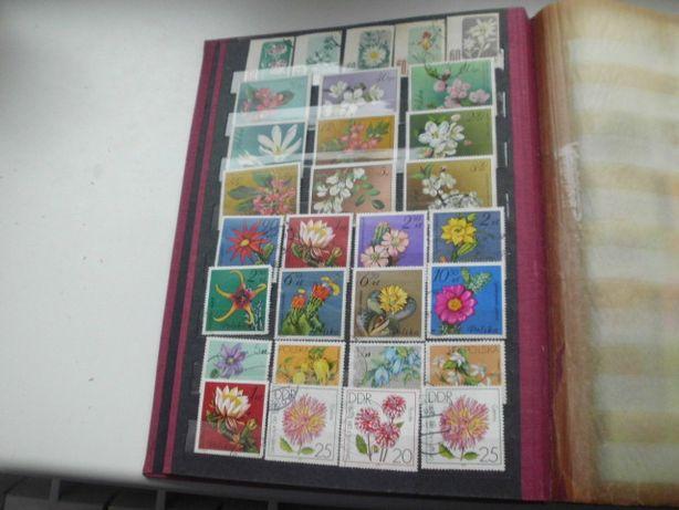 Zamienię znaczki w klaserze tem. zwierzęta -kwiaty , 870 szt