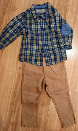 Komplet koszula spodnie H&M 86/92