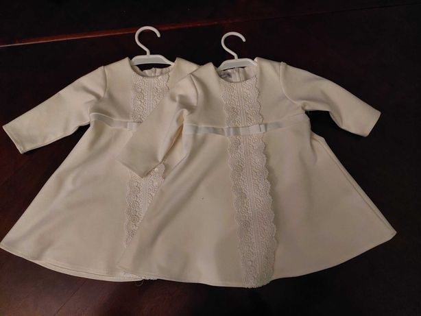 sukienki do chrztu dla bliźniaczek